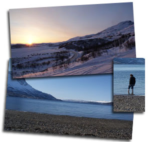 Artic sunrise and beach