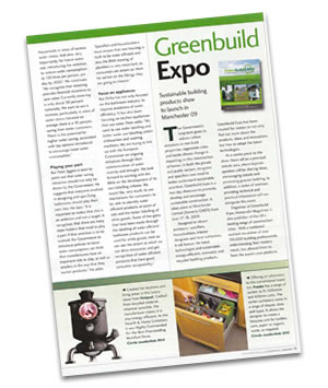 Greenbuild Expo magazine feature
